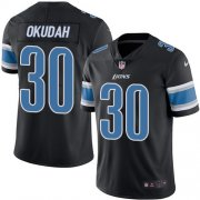 Wholesale Cheap Nike Lions #30 Jeff Okudah Black Youth Stitched NFL Limited Rush Jersey