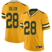 Wholesale Cheap Nike Packers #28 AJ Dillon Gold Youth Stitched NFL Limited Inverted Legend Jersey