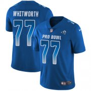 Wholesale Cheap Nike Rams #77 Andrew Whitworth Royal Youth Stitched NFL Limited NFC 2018 Pro Bowl Jersey