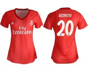 Wholesale Cheap Women's Real Madrid #20 Asensio Third Soccer Club Jersey