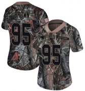 Wholesale Cheap Nike Panthers #95 Derrick Brown Camo Women's Stitched NFL Limited Rush Realtree Jersey
