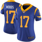 Wholesale Cheap Nike Rams #17 Robert Woods Royal Blue Alternate Women's Stitched NFL Vapor Untouchable Limited Jersey