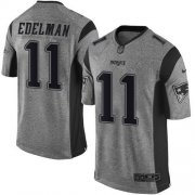 Wholesale Nike Patriots #11 Julian Edelman Gray Men's Stitched NFL Limited Gridiron Gray Jersey