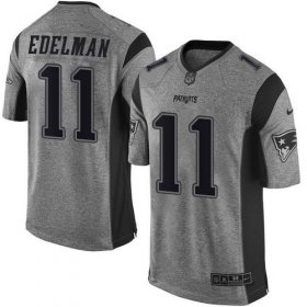 Wholesale Cheap Nike Patriots #11 Julian Edelman Gray Men\'s Stitched NFL Limited Gridiron Gray Jersey