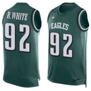 Wholesale Cheap Nike Eagles #92 Reggie White Midnight Green Team Color Men's Stitched NFL Limited Tank Top Jersey