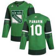 Wholesale Cheap New York Rangers #10 Artemi Panarin Men's Adidas 2020 St. Patrick's Day Stitched NHL Jersey Green.jpg.jpg