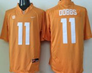 Wholesale Cheap Men's Tennessee Volunteers #11 Joshua Dobbs Orange Stitched NCAA Nike College Football Jersey
