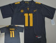 Wholesale Cheap Men's Tennessee Volunteers #11 Joshua Dobbs Gray Stitched NCAA Nike College Football Jersey