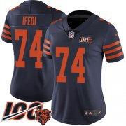 Wholesale Cheap Nike Bears #74 Germain Ifedi Navy Blue Alternate Women's Stitched NFL 100th Season Vapor Untouchable Limited Jersey
