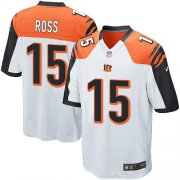 Wholesale Cheap Nike Bengals #15 John Ross White Youth Stitched NFL Elite Jersey