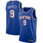 Wholesale Cheap Knicks #9 R.J. Barrett Blue Basketball Swingman Statement Edition 2019-2020 Jersey