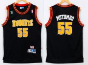 Wholesale Cheap Men's Denver Nuggets #55 Dikembe Mutombo Black Hardwood Classics Soul Swingman Throwback Jersey