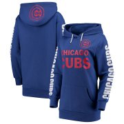 Wholesale Cheap Chicago Cubs G-III 4Her by Carl Banks Women's Extra Innings Pullover Hoodie Royal