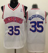 Wholesale Cheap Philadelphia 76ers #35 Clarence Weatherspoon White Swingman Throwback Jersey
