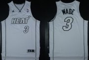 Wholesale Cheap Miami Heat #3 Dwyane Wade Revolution 30 Swingman White Big Color Jersey