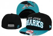 Wholesale Cheap NHL San Jose Sharks Team Logo Black Snapback Adjustable Hat