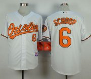 Wholesale Cheap Orioles #6 Jonathan Schoop White Cool Base Stitched MLB Jersey