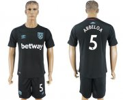 Wholesale Cheap West Ham United #5 Arbeloa Away Soccer Club Jersey