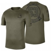 Wholesale Cheap New England Patriots #53 Kyle Van Noy Olive 2019 Salute To Service Sideline NFL T-Shirt