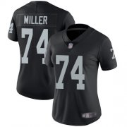 Wholesale Cheap Nike Raiders #74 Kolton Miller Black Team Color Women's Stitched NFL Vapor Untouchable Limited Jersey