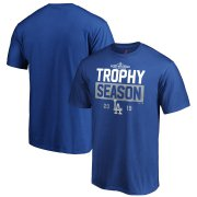 Wholesale Cheap Los Angeles Dodgers Majestic 2019 Postseason Around the Horn T-Shirt Royal