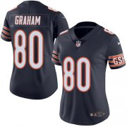 Wholesale Cheap Nike Bears #80 Jimmy Graham Navy Blue Team Color Women's Stitched NFL Vapor Untouchable Limited Jersey