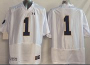 Wholesale Cheap Notre Dame Fighting Irish #1 Greg Bryant 2014 White Jersey