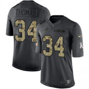 Wholesale Cheap Nike Bills #34 Thurman Thomas Black Youth Stitched NFL Limited 2016 Salute to Service Jersey
