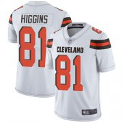 Wholesale Cheap Nike Browns #81 Rashard Higgins White Men's Stitched NFL Vapor Untouchable Limited Jersey