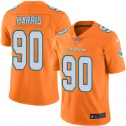 Wholesale Cheap Nike Dolphins #90 Charles Harris Orange Men's Stitched NFL Limited Rush Jersey