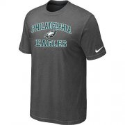 Wholesale Cheap Nike NFL Philadelphia Eagles Heart & Soul NFL T-Shirt Crow Grey