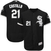 Wholesale Cheap White Sox #21 Welington Castillo Black Flexbase Authentic Collection Stitched MLB Jersey