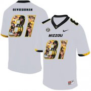 Wholesale Cheap Missouri Tigers 81 Albert Okwuegbunam White Nike Fashion College Football Jersey