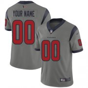 Wholesale Cheap Nike Houston Texans Customized Gray Men's Stitched NFL Limited Inverted Legend Jersey