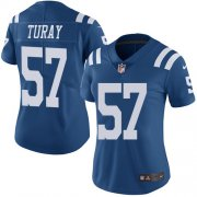 Wholesale Cheap Nike Colts #57 Kemoko Turay Royal Blue Women's Stitched NFL Limited Rush Jersey