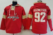 Wholesale Cheap Capitals #92 Evgeny Kuznetsov Red Pullover Hoodie Stitched NHL Jersey
