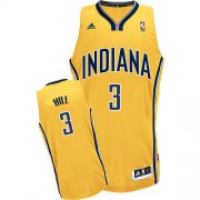 Wholesale Cheap Indiana Pacers #3 George Hill Yellow Swingman Jersey