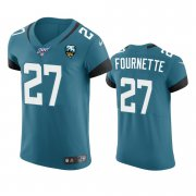 Wholesale Cheap Jacksonville Jaguars #27 Leonard Fournette Teal 25th Season Vapor Elite Stitched NFL Jersey