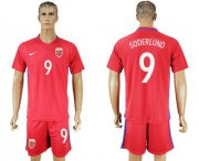 Wholesale Cheap Norway #9 Soderlund Home Soccer Country Jersey