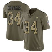Wholesale Cheap Nike Buccaneers #34 Mike Edwards Olive/Camo Men's Stitched NFL Limited 2017 Salute To Service Jersey