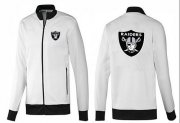 Wholesale Cheap NFL Las Vegas Raiders Team Logo Jacket White_1