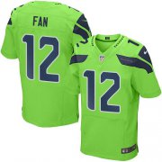 Wholesale Cheap Nike Seahawks #12 Fan Green Men's Stitched NFL Elite Rush Jersey