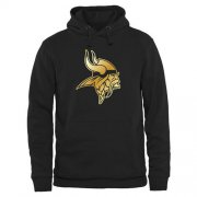 Wholesale Cheap Men's Minnesota Vikings Pro Line Black Gold Collection Pullover Hoodie