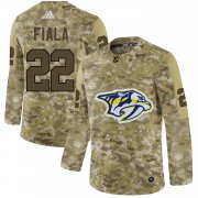 Wholesale Cheap Adidas Predators #22 Kevin Fiala Camo Authentic Stitched NHL Jersey