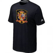 Wholesale Cheap Adidas Spain 2014 World Short Sleeves Soccer T-Shirt Black