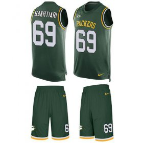 Wholesale Cheap Nike Packers #69 David Bakhtiari Green Team Color Men\'s Stitched NFL Limited Tank Top Suit Jersey