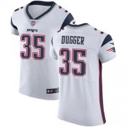Wholesale Cheap Nike Patriots #35 Kyle Dugger White Men's Stitched NFL New Elite Jersey