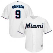 Wholesale Cheap Marlins #9 Lewis Brinson White Cool Base Stitched Youth MLB Jersey