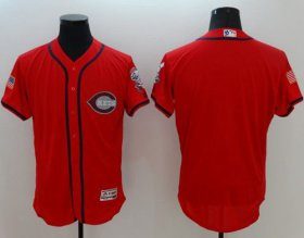 Wholesale Cheap Reds Blank Red Fashion Stars & Stripes Flexbase Authentic Stitched MLB Jersey