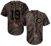 Wholesale Cheap Reds #19 Joey Votto Camo Realtree Collection Cool Base Stitched Youth MLB Jersey